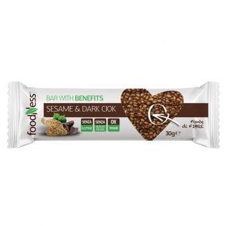 Barretta con semi di sesamo e cioccolato fondente